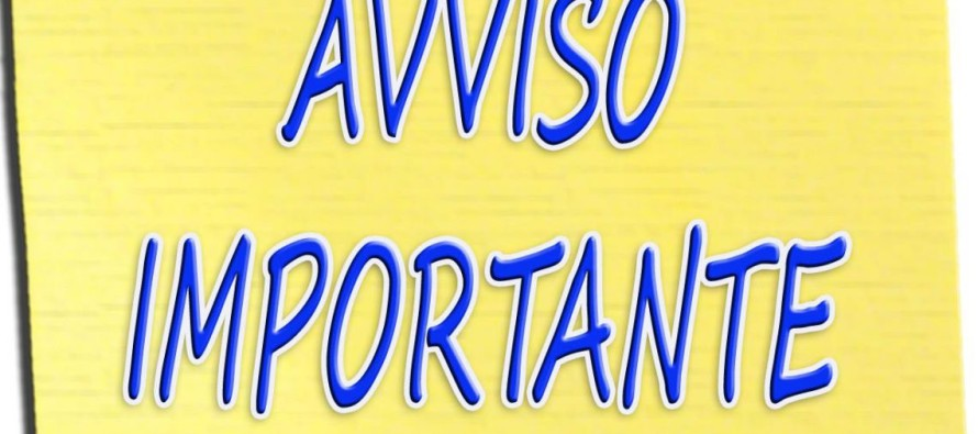 AVVISO ALL'UTENZA – EMERGENZA COVID-19
